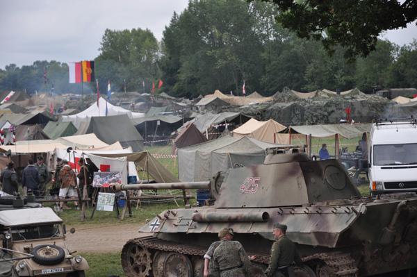 Utsikt över den tysk lägermiljön