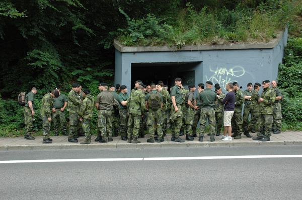 Så här många soldater ryms i ett värn från andra världskriget. Foto Johan Andrée.