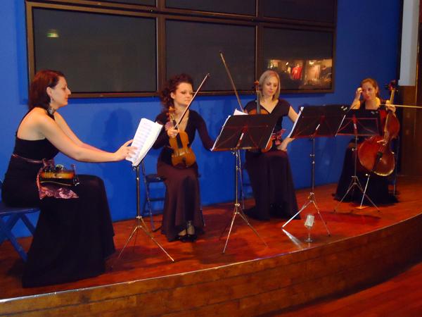 Den kvinnliga kvartetetten på Silja Serenad