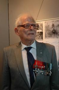 Björn Munsterhjelm under sitt besök på Beredskapsmuseet 2009. (foto Johan Andrée)