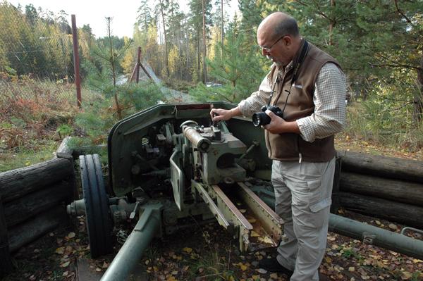 Tysk pansarvärnvärnkanon vid pansarmuseet i Parola.