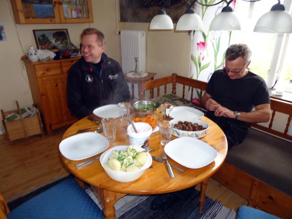 En riktigt läcker lunch hemma hos Persson!