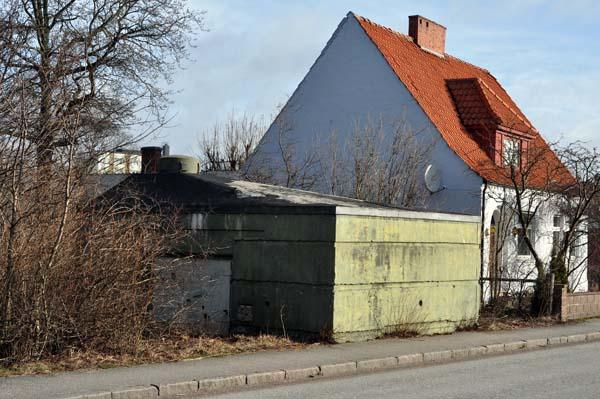 Stadsvärnet T 3 längs gamla infartsgatan i Trelleborg.