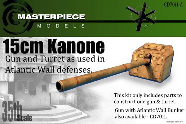Äntligen, efter flera månaders väntan. 15 cm kanon med bunker