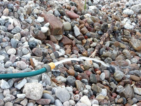 Vattnet skickades tillbaks dit det kommit ifrån, alltså Öresund.