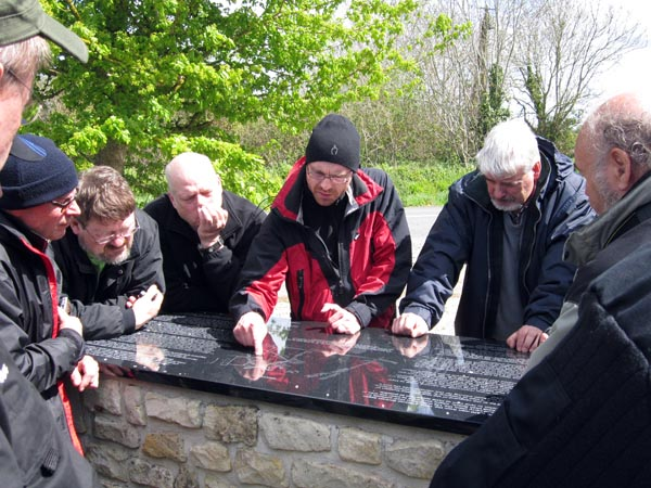 Björn berättar med stor inlevelse om striderna vid Brecourt Manor.