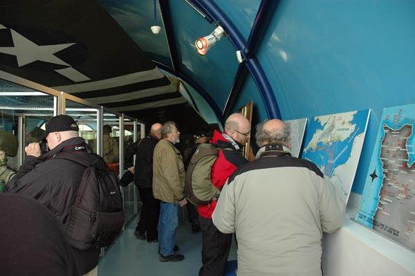 Fallskärmsjägarmuseet i St Mere Eglise drog till sig intresset.