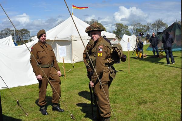 Nya för året var 2nd Bn Essex Regiment, engelska reenactor som belv till ett populärt inslag under dagen.