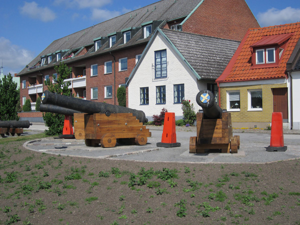 De gamla kanonerna i Ystad