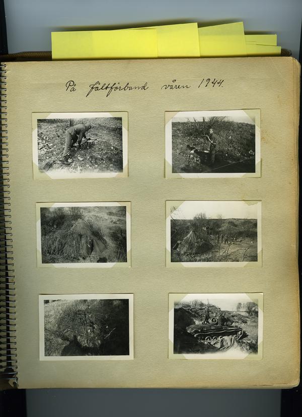 Första sidan i albumet. På fältförband våren 1944.