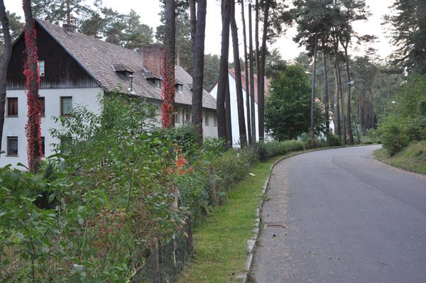 Några av de färdigrenoverade tyska kasernbyggnaderna