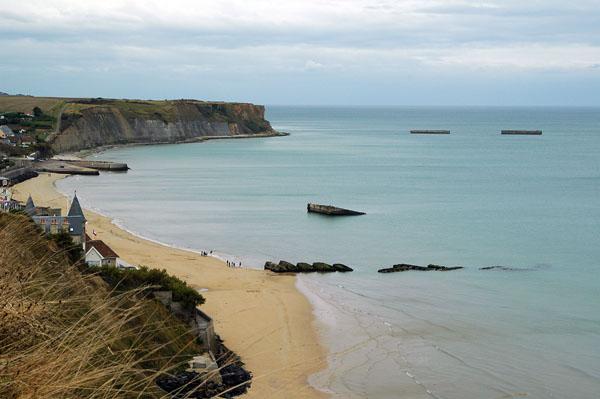 Arromanches - ett måste för varje Normandiebesökare.
