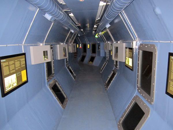Undervattenstunneln vid Marinmuseum i Karlskrona