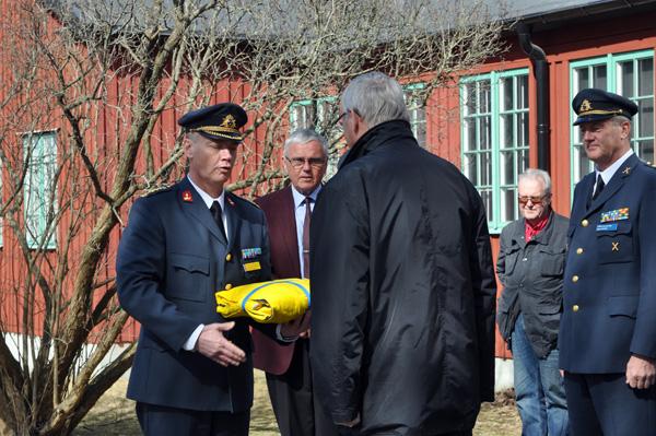 Överlämning av flaggan till Chefen Lv 6 i Halmstad