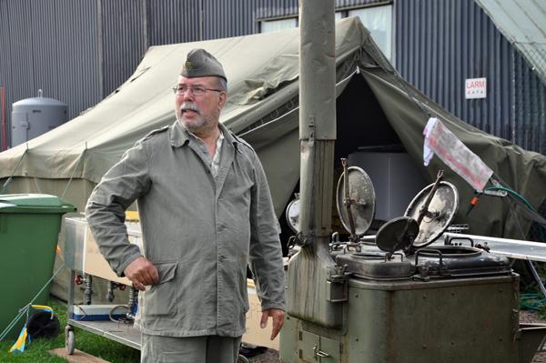 Koket klart för ärtsoppa med kokchefen i grötmundering. (foto: Lars Dahlbom)