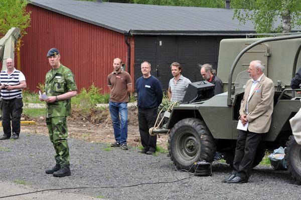 Brigadgeneral Stefan Andersson inviger de nya utställningar vid Smålands Militärhistoriska Center i Delary.