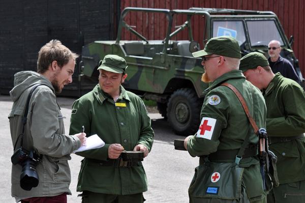 5.Trosskompaniet från Skåne väckte intresse inte bara hos pressen.