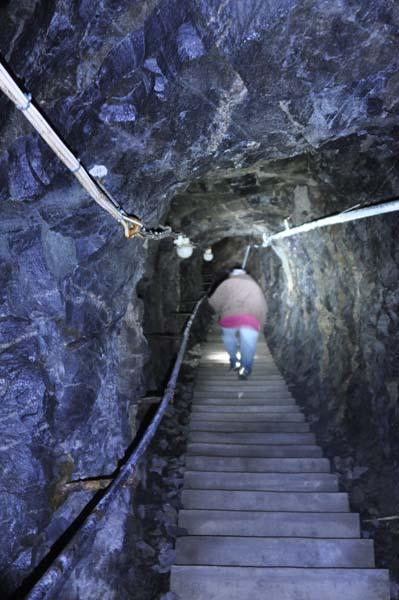 Trappan upp till toppen.