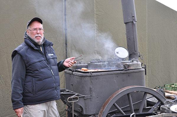 Uppvärmning av spis inför det stora koket!