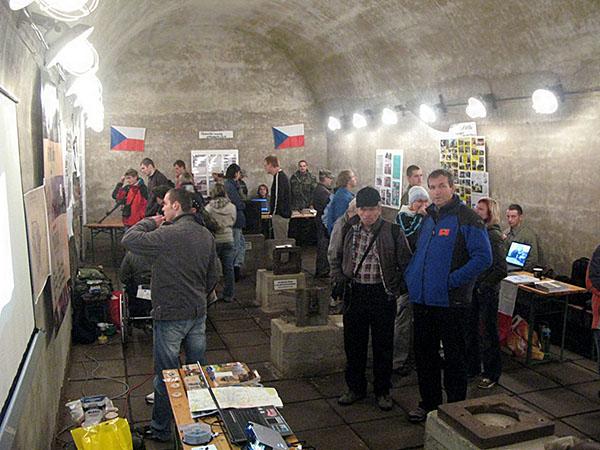 30 meter under marken i fort Dobrosovs tunnelsystem. (foto:okänd)