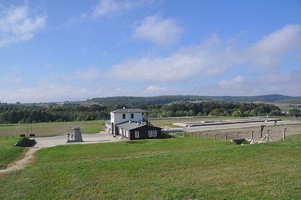 Utsikt över lägerområdet Gross Rosen