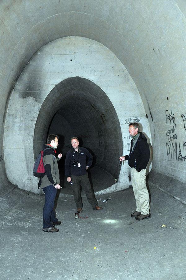 Tunnelsystemen mellan delar i anläggningen var imponerande i storlek. Då skall man komma ihåg att den stora huvudtunneln som förbinder de olika PanzarWerken är ännu större.