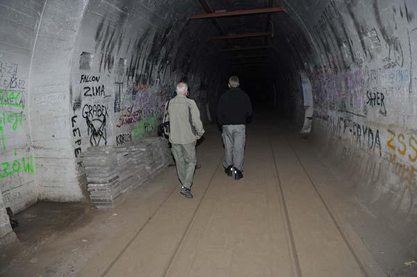 Den stora huvudtunneln under PzW 717 i Pniewo.