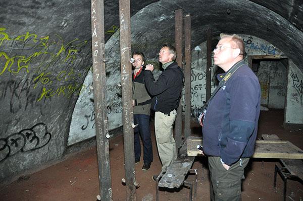 Förläggningsdel i övre delen av kaserntunneln.