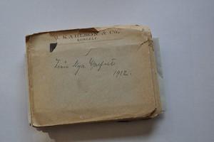 Kuvert med glasplåt från 1912.