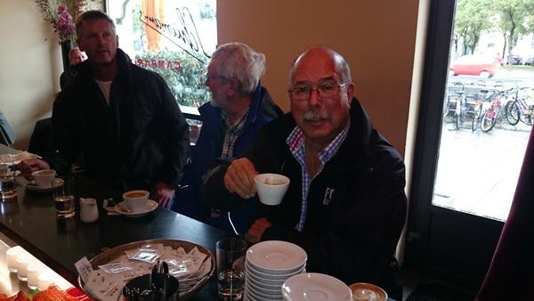 En god kopp kaffe sitter aldrig fel, speciellt inte i Munchen.