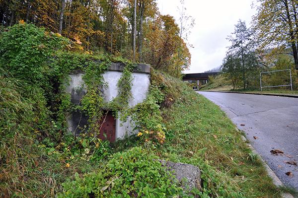 Liten bunker i Obersaltzberg, precis intill Berghof.