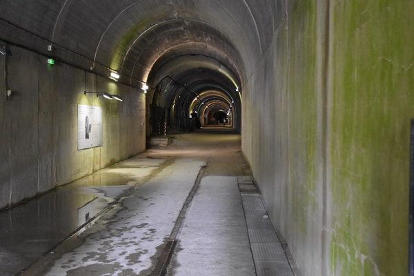 Början på tunneln innanför ingången.