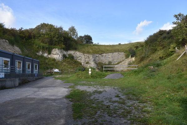 Den ser inte så mycket ut för världen, V-3 anläggningen i Mimoyecques kalkberg.